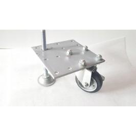 Zestaw kołowy poziomujący ze stopą