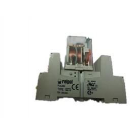 RELPOL przekażnik 24VDC dwubiegunowy 12A test przy