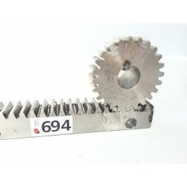 Listwa zębata z zębatką 100cm 25x25mm