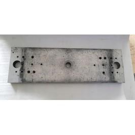 Blacha blok aluminium 640x200x30mm